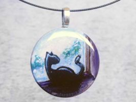 Windowsill Kitty Pendant by sobeyondthis