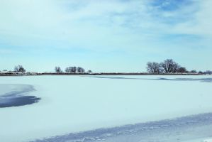 Erie Lake in the Snow by TheSleepyRabbit