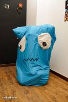 Blue Pac-man Ghost By Mikaela Moschou by Mikaela-Moschou