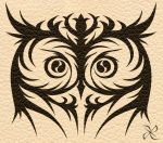 Commission - Owl Tribal Tattoo by scificat