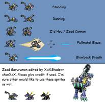 Zeedgarurumon Sprite Sheet by XxXShadow-chanXxX