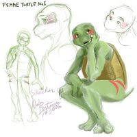 female reptile anthro by NalaFontaine
