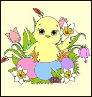 Easter chick by Erozja