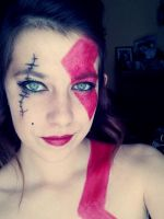 Kratos Make up God of War by Arisusandasu