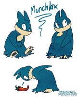 Munchlax sketches by Pokeaday