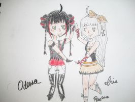 Odessa and Iria by xRaeylx