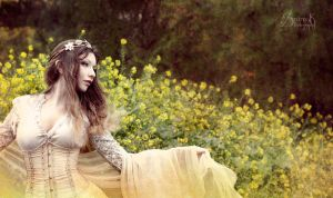 Field OF Flowers I: Empyrean Light by IreneAstral
