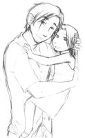 Father daughter hug by loosley