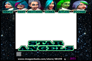 Star Angels Front Cover template by EdgarSlam
