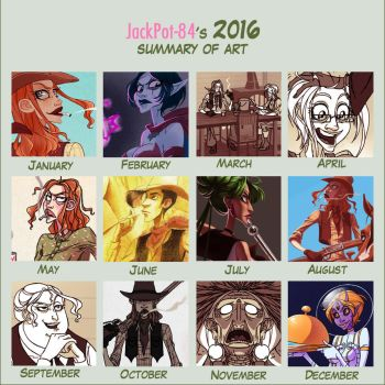 2016 Art Summary by JackPot-84