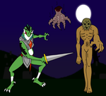 Dinalfos Redead and Wallmaster OoT by PariahExileWrath