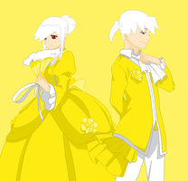 Yellow-Servant of Evil by peppermix14