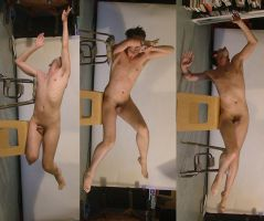 Flying Male Nude 3 by TheMaleNudeStock