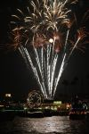 Fireworks over Newport Beach Harbor by OrioNebula