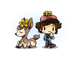 TPP:B - hanging out with a DEER friend [for Liria] by Wolframclaws