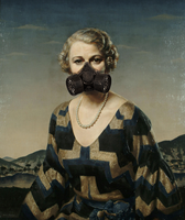 Gas masks on period painting by ScottMcCartney