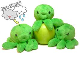 Little Apple Green Octoplushies by The-Cute-Storm
