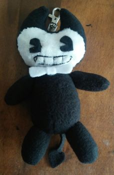 Bendy plushie keychain by crispicroissant