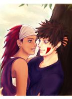 Kiba and Karui by girlUnknown
