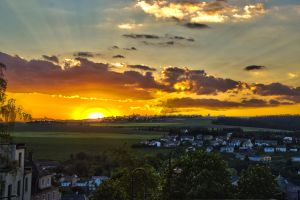 sunset over Wiltz by jellemartijn