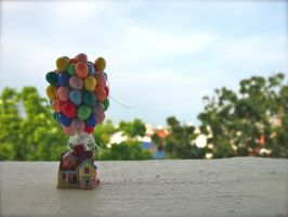 Miniature House from Pixar's Up by gracelyt