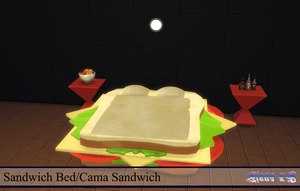 Sandwich Bed (Sims 4) by zienaxd