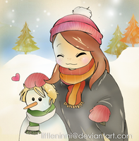 She loves Snowmen by LittleNinni