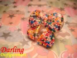 sprinkle bow ring by leggsXisXawsome