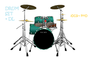 MMD: drum set + DL by Chibi-Baka-San