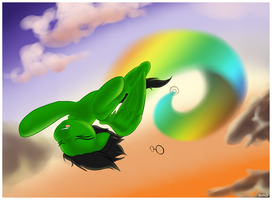 Commission - Sonic Rainboom by StyxLady