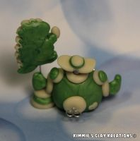 Polymer Clay Robot I Love Dinosaurs Glow Figurine by KIMMIESCLAYKREATIONS