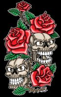 Skull and Rose by Britt8m