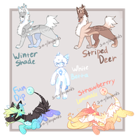 Sweet/Ieopards Mixed Species Auction [CLOSED] by Sweet-n-treat