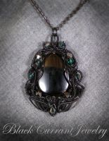 Black on Black - my favorite combination by blackcurrantjewelry