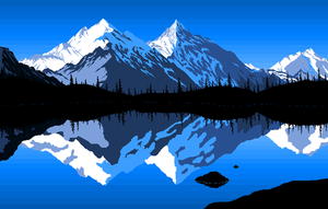 MS Paint Mountains by SinglePost