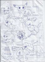 Random Pokemon Sketch Dump by Windaura