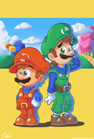 Super Mario Bros. by Air-City
