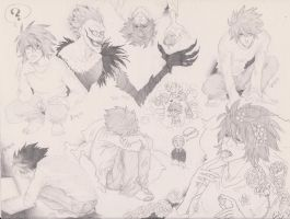 Death Note Sketchdump L by ILoveAbelNightroad13