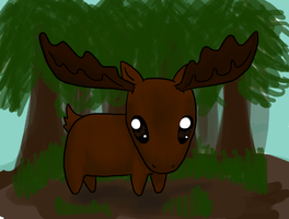 A Moose by CrazyLittleOwl
