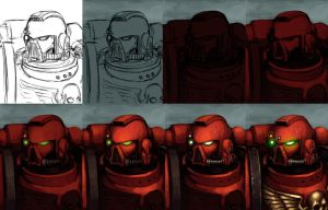 Space marine painting Tutorial by FonteArt