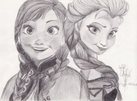 Elsa and Anna by sofio5