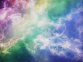 rainbow cloud fantasy by mysteriousfantasy