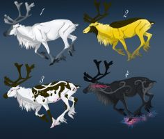 Reindeer adoptables - CLOSED by Tricksters-Adopts