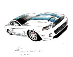 Shelby gt500 2010 by SamanthaErikArt27