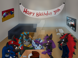 Happy birthday my dear bro Josh! by Kuro-No-Yuki