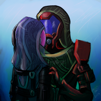:AT: Kal and Tali by GlacierAura