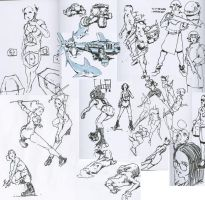 Sign Pen sketches by WyntonRed
