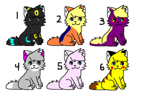 Pokecat adoptable pack by Oo-Elie-oO