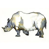 InkAnimals - Rhino by Duffzilla