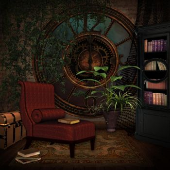 Reading Room 01 Premade Bkgrd by CntryGurl-Designs